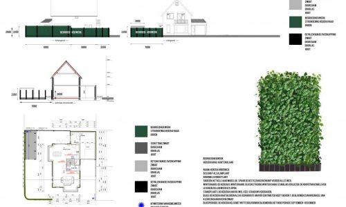 technische tekening huis van overkapping
