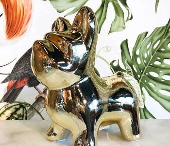 Bulldog spaarpot goud