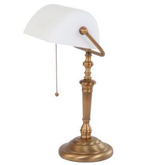 Bankierslamp wit 6186BR