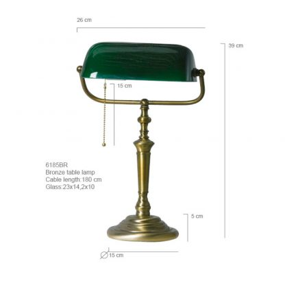 Bankierslamp groen 6185BR-7