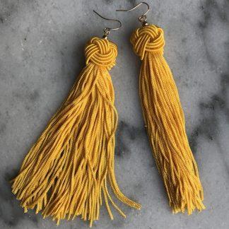 Oorbellen kwastjes geel