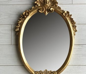 Spiegel ovaal goud