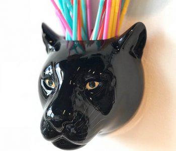 wandvaas zwarte panter