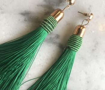 Oorbellen sliertjes groen