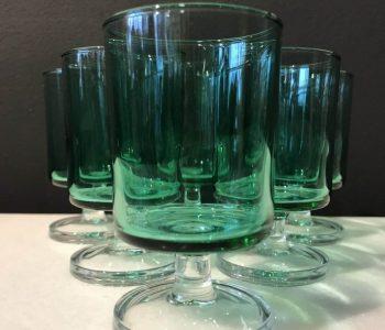 Borrelglaasjes groen blauw