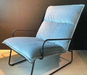 Industriele fauteuil blauw 0