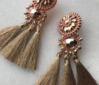 Oorbellen hangers rose
