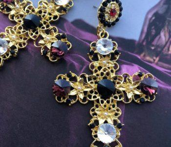 kruisjes paars