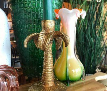 Kandelaar palmboom goud