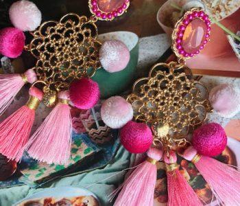 oorbellen ibiza roze