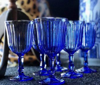 setvan6blauwewijnglazenglas