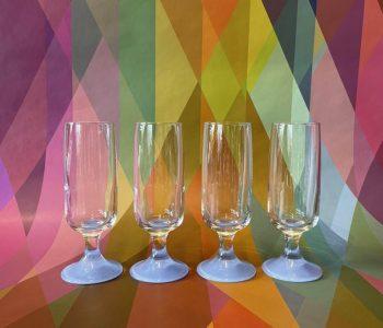 ChampagneGlazenSetvan4BlauwBabyblueOudNieuwsTwello