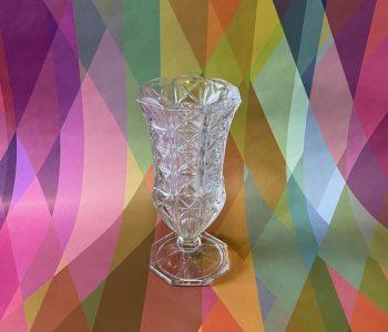 KristallenVaasjeVaseCrystalGlassTransparantOudNieuwsTwello
